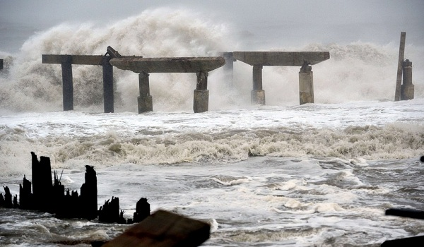 Hurricane Sandy arrives in Atlantic City. Credit: NRO